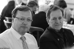 Claude Hugot (Renault) et Francis Huster
