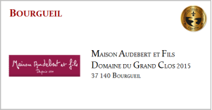 AUDEBERT & FILS - Bourgueil - D.D Grand Clos 2015