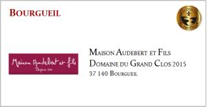 AUDEBERT & FILS - Bourgueil - D.D Grand Clos 2015