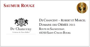 D. CHANCENY - Saumur Rouge - D.D. Ormes 2015
