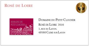 D.D. PETIT CLOCHER - Rosé de Loire 2016