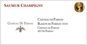 D. PARNAY - Saumur Champigny - Blason de Parnay 2016
