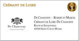 DE CHANCENY - Crémant de Loire Blanc