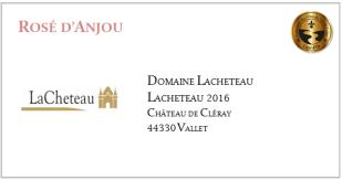 LACHETEAU - Rosé d'Anjou 2016