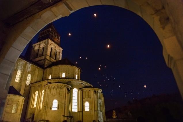 Envol des lanternes chinoises